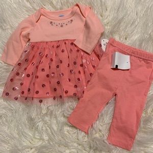 NWT baby dress with tulle and leggings
